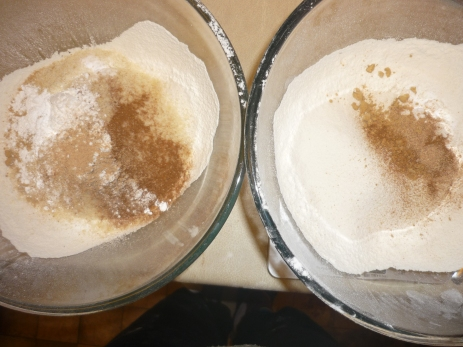 Now this first image is the only one to have the Ginger bread on the right. Sorry =S but these are the dry ingredients